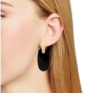 NEW Kendra Scott Black Aragon Drop Earrings